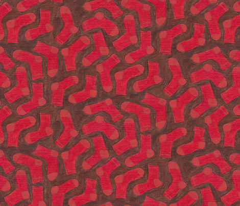 Socks In The Dirt fabric by lorettark on Spoonflower - custom fabric
