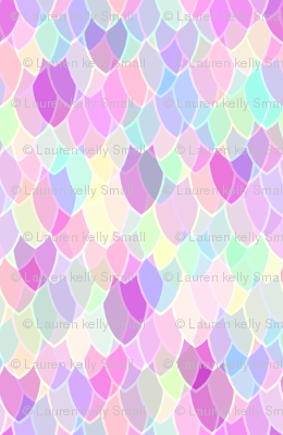 Rainbow Dragon Scales Fabric Thistleandfox Spoonflower