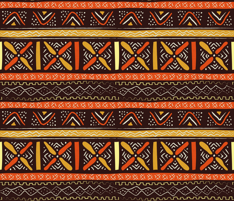 African roots fabric by sansan on Spoonflower - custom fabric
