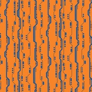 Circuit orange blue