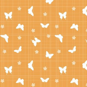 Butterflies - Orange and white