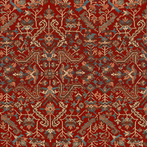 Heriz Fans Red fabric by amyvail on Spoonflower - custom fabric