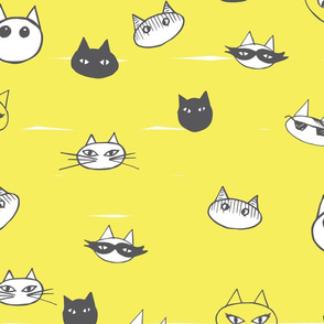 Cat Faces yellow