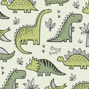 Dinosaurs in Green