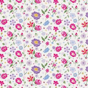 Fragrant Blooms, white