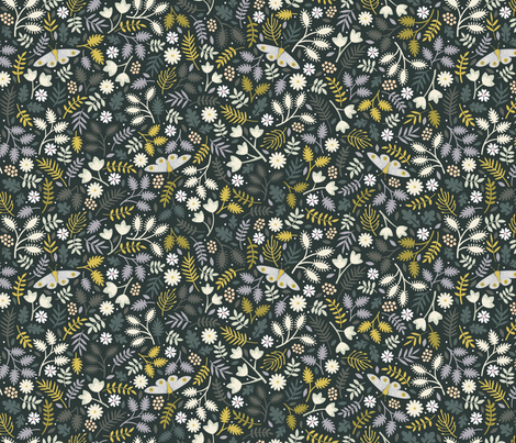 *New* The Night Garden // by petite_circus fabric by petite_circus on Spoonflower - custom fabric