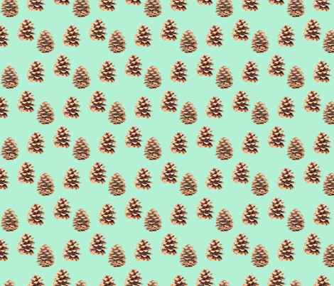 Pine Cones Mint fabric by argenti on Spoonflower - custom fabric