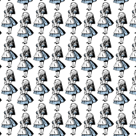 Alice with Blue fabric by pond_ripple on Spoonflower - custom fabric
