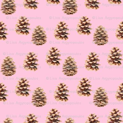 Pine Cones Pink