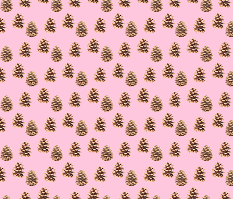 Pine Cones Pink fabric by argenti on Spoonflower - custom fabric