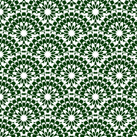 Butterflies - Zinnia (Dark Green) fabric by siya on Spoonflower - custom fabric