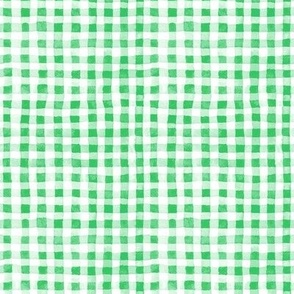 Green Watercolor Gingham