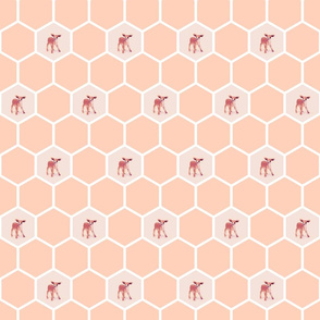 Honeycomb_Peach_LittleDeer_Decal