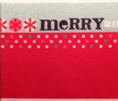 """Texty Christmas Quilt Binding 2.25"""""""