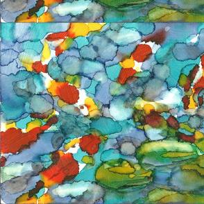 koi fish abstract
