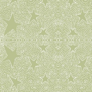 multitude of stars on green