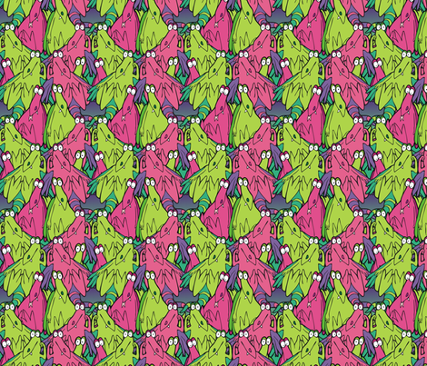 more bored dragons fabric by hannafate on Spoonflower - custom fabric
