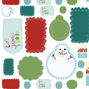 Holiday Gift Tags Large