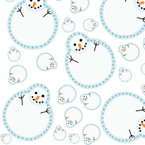 Frozen Snowman Large Light Blue