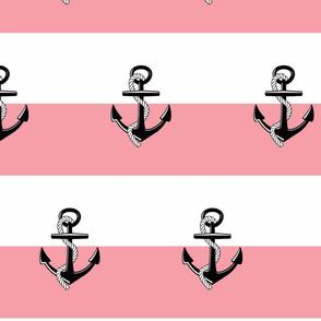 Anchor Stripes -Large  bubble gum
