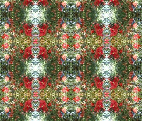 Flamboyant Bottlebrush - Medium Scale (Ref. 4855a) fabric by rhondadesigns on Spoonflower - custom fabric