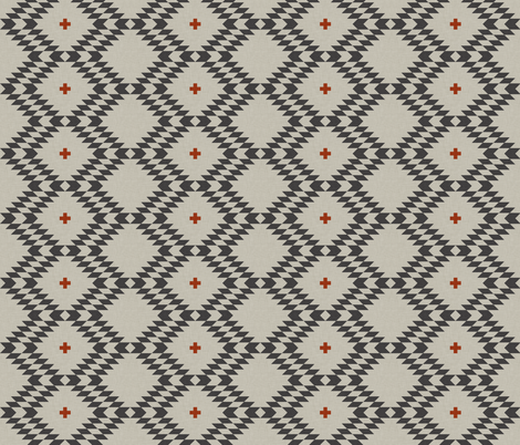 native_natural_orange_small fabric by holli_zollinger on Spoonflower - custom fabric