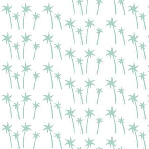palms White - MEDIUM seafoam