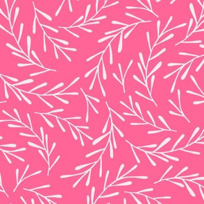 Hot Pink Sprigs - reverse