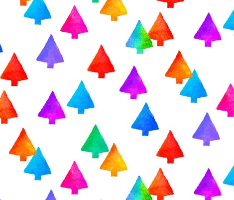 HolidayTrees fabric by ileneavery on Spoonflower - custom fabric