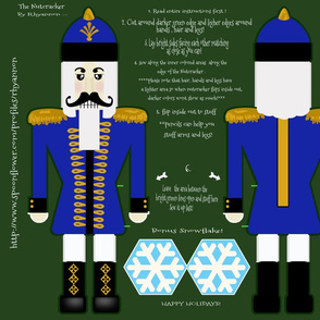 Nutcracker in Blue Cut and Sew