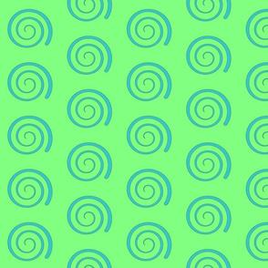 Dean's Blue Swirl on Green