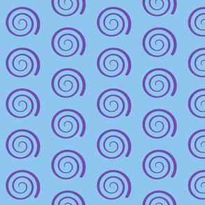 Dean's Purple Swirl on Blue