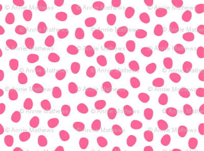 Hot Pink Pebbles on White