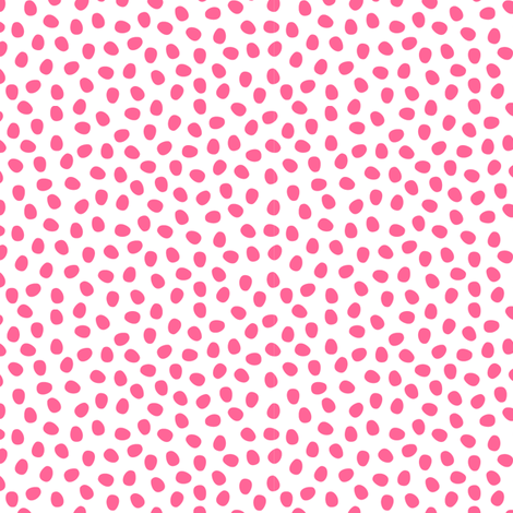 Hot Pink Pebbles on White fabric by anniemathews on Spoonflower - custom fabric