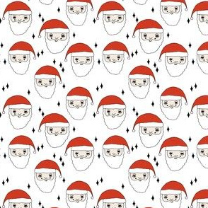 santa // christmas father christmas holiday xmas cute santa claus fabric cute kids fabric