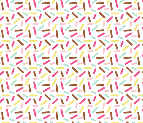 Donut White Sprinkle fabric by heatherhightdesign on Spoonflower - custom fabric