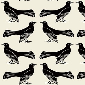 grackle pattern in black