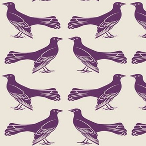 grackle pattern in purple