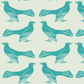 grackle pattern in turquoise