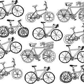 Bikes in black and white