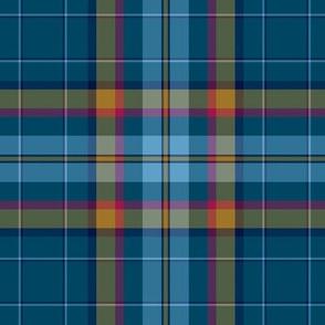 Cian / Carroll clan tartan muted