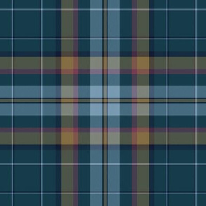 Cian / Carroll clan tartan, weathered