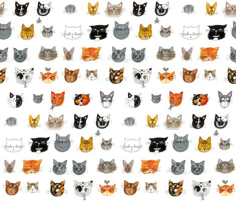 Cats fabric by littleislandcompany on Spoonflower - custom fabric