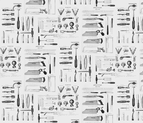 Antique Surgical Tools fabric by maryah13 on Spoonflower - custom fabric