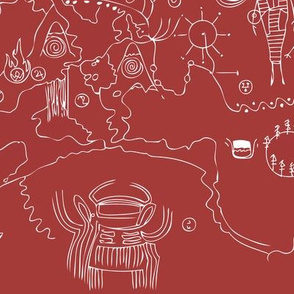 Twin Peaks Owl Cave Petroglyph Map