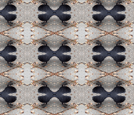 Crow X 4 fabric by kjs_mom on Spoonflower - custom fabric