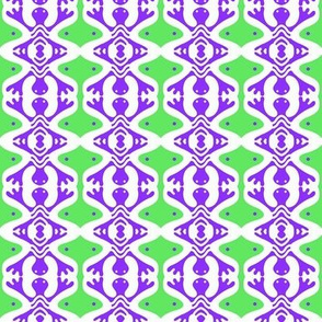 Purple Lizards Green Barbells