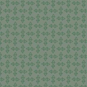 Chequerplate Batons Green