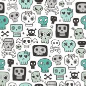 Skulls In Green