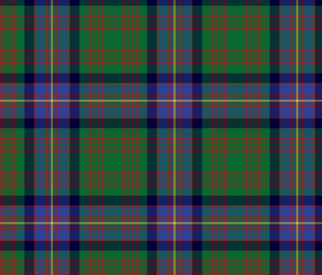 "Cochrane tartan, 8"" green and blue fabric by weavingmajor on Spoonflower - custom fabric"